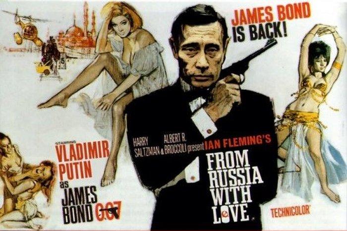 Джеймс Бонд против Владимира Путина (12 фото)