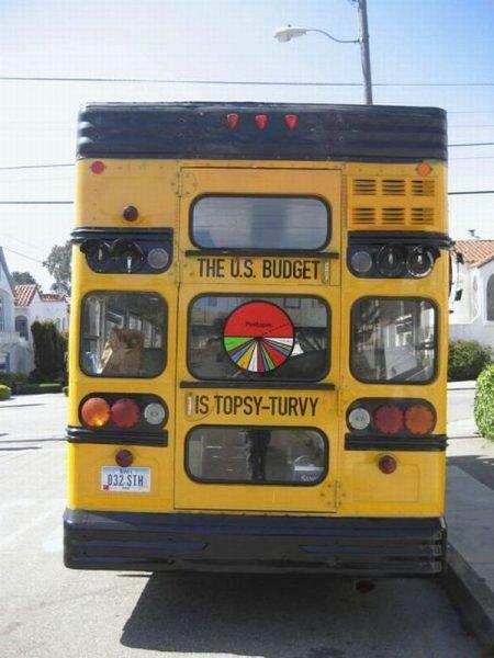 Креативный школьный автобус (7 фото)