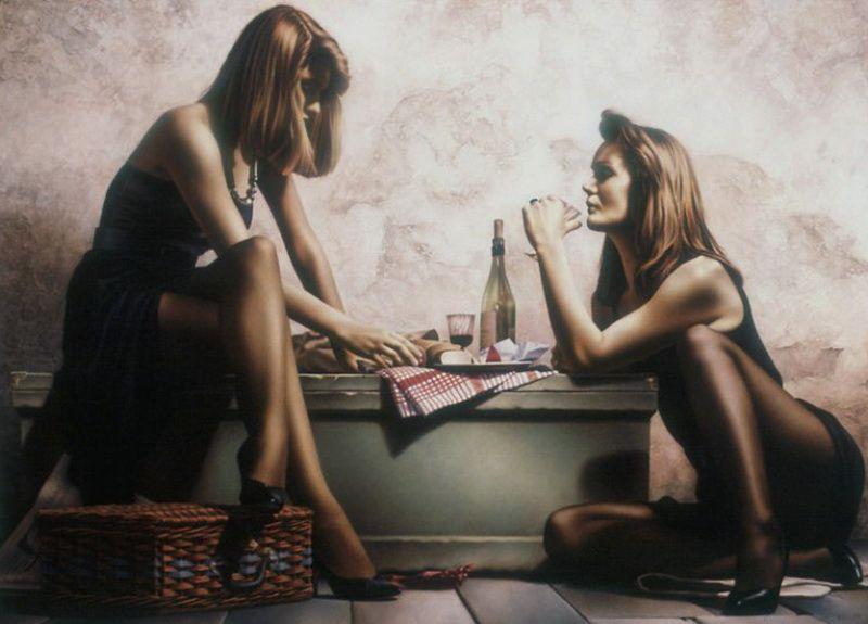 Женщины художника. Paul Kelley (27 фото)