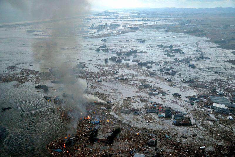 Берега Натори после мощного цунами. (Kyodo News)