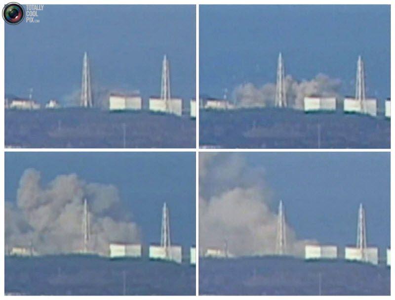На этом фото – дым над атомной станцией Фукусима-1 после взрыва, произошедшего 12 марта 2011 года. Взрывом сорвало крышу, что дает японским СМИ повод говорить о возможном выбросе радиации и расплавлении топлива в реакторе.