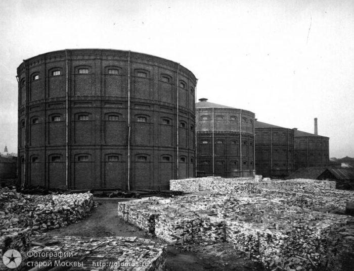 7. Газгольдерный завод. Фото 1910-1917 года: