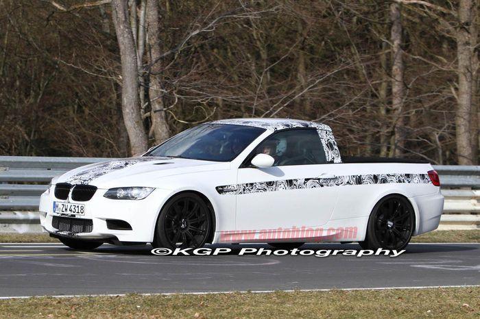 BMW M3 пикап - тестовый или серийный авто? (9 фото)