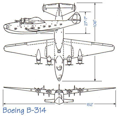 Всего было построено 12 летающих лодок. Их эксплуатация завершилась 1946 году, а к 1951 году все Боинги-314 были переплавлены: слишком большой рывок сделала авиация за военные годы.
