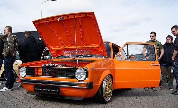 Заводной апельсинчик VW Golf MK I (5 фото)