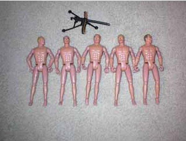 Набор голых солдатиков. 2000 год. Ушел за 24 бакса.