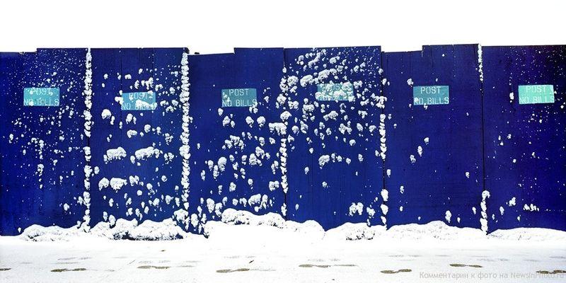 24.Синяя стена, Вест-Сайд Хайвей (Blue Wall, Westside Highway)<br>  Нью-Йорк, 2009 год.