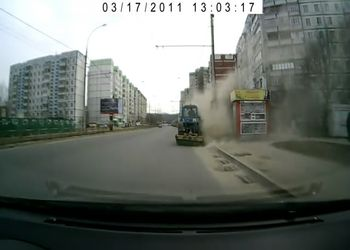 Уборка дороги-пыльная работенка:)