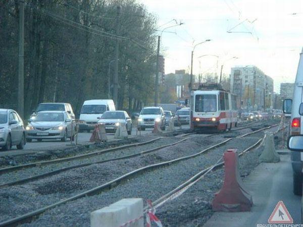 Трамвайные пути в Санкт-Петербурге после ремонта (для сравнения)