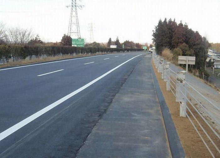 Восстановление дорог Японии (5 фото)