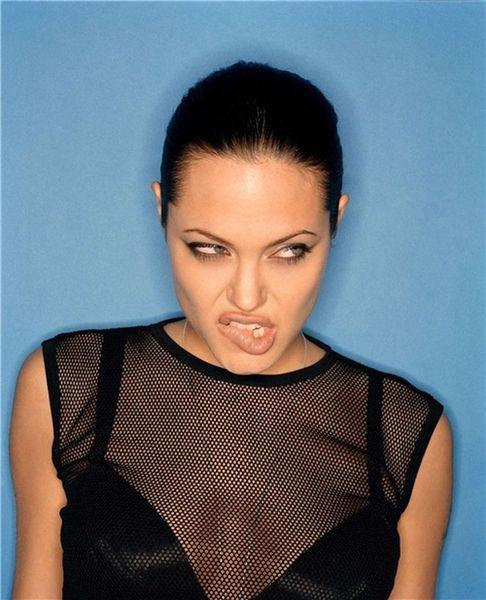 Нераспространенные фотографии Angelini Jolie (14 фото)