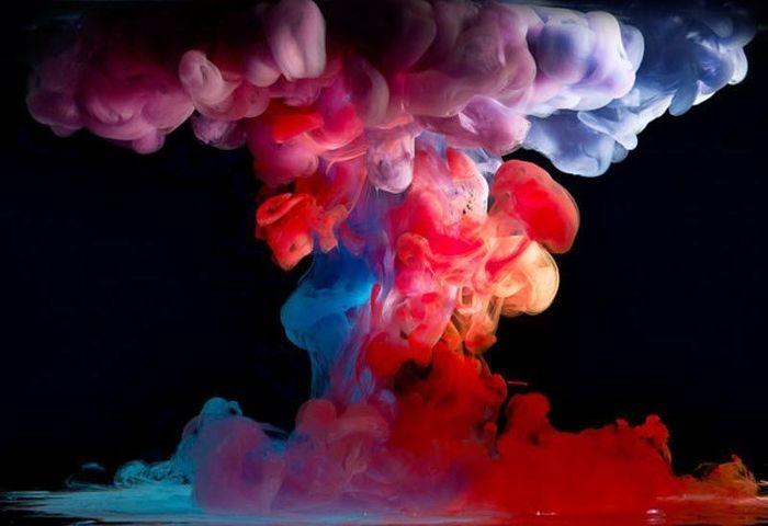 Капли краски в воде (10 фото)