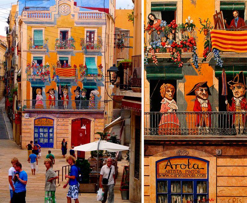 Мы начнем с веселого здания в Таррагоне, Испания: