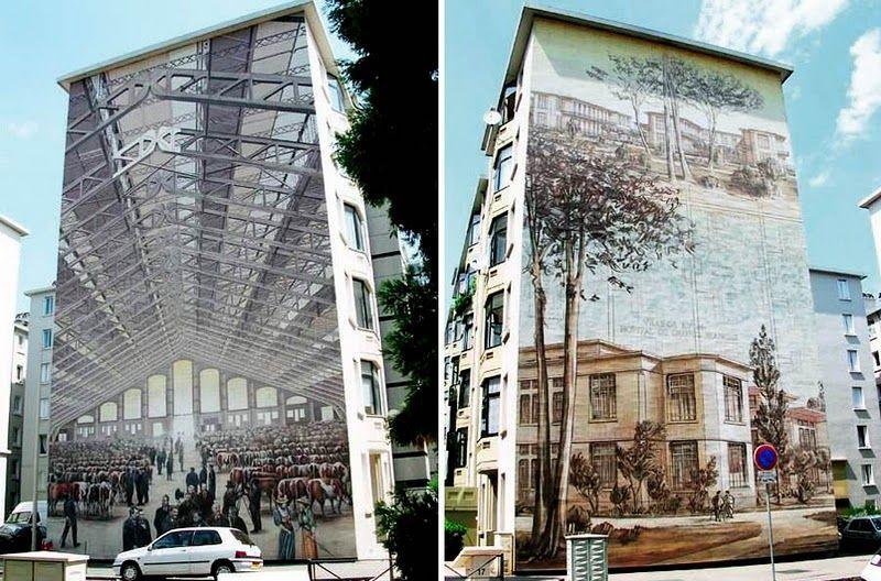 Вот серия зданий в Лионе, Франция: