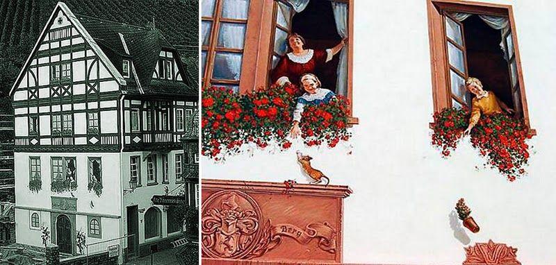 Германия полна замечательных фресок, особенно в Баварии, где это стало традиционным народным искусством: