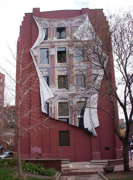 Задняя сторона Плоского Железного Здания Gooderham в Торонто: