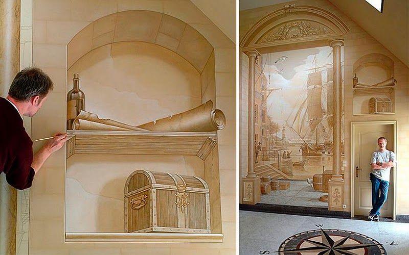 другой замечательный пример стены трехмерными картинами