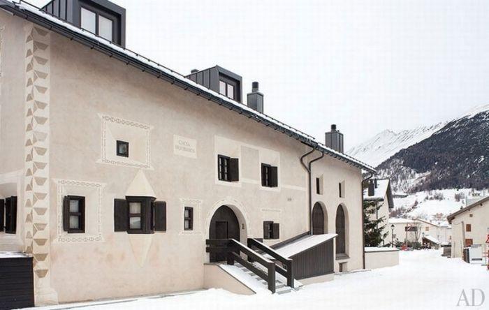 Дом Джорджио Армани в Швейцарии (13 фото)