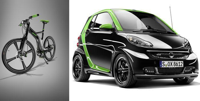 Ателье Brabus покажет элекстрические Smart ForTwo и велосипед ebike (8 фото)