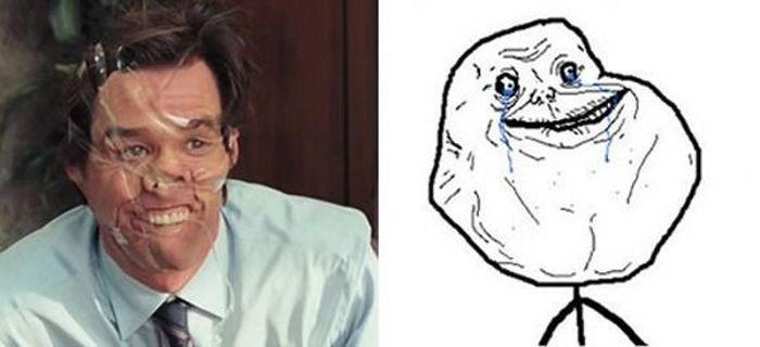 Джим Керри изображает рожи из комиксов (26 фото)