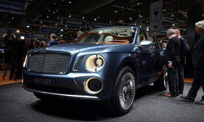 Компания Bentley показала свой новый внедорожник EXP 9 F (30 фото+2 видео)