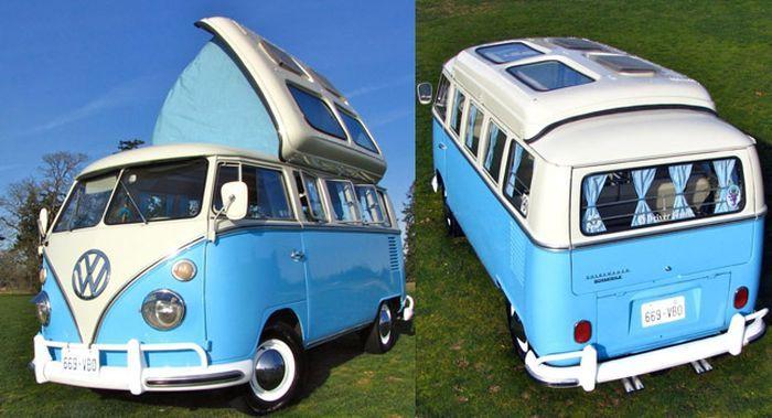 Уникальный Volkswagen Hippie Bus 1964 года продают на аукционе (25 фото+2 видео)