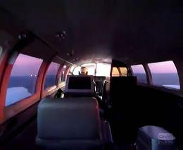 Аварийная посадка маленького самолета на брюхо