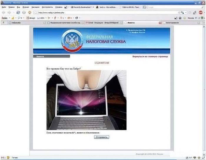 Сайт Федеральной налоговой службы взломан хакерами (8 фото)