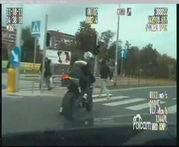 Погоня за мотоциклистом