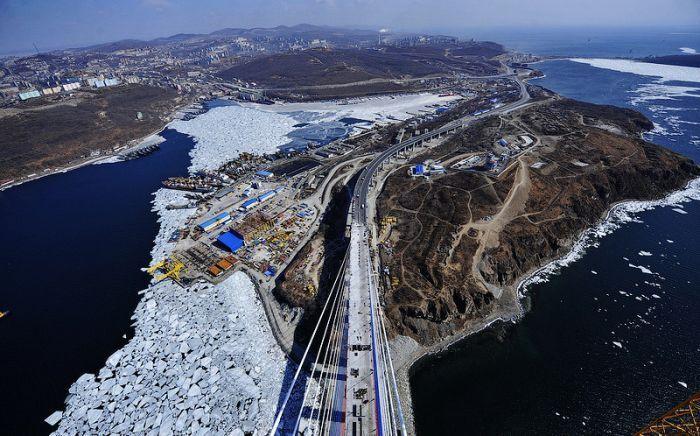 Русский мост во Владивостоке (52 фото)