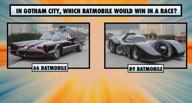 Сравнительный тест-драйв бэтмобилей... (2 видео)