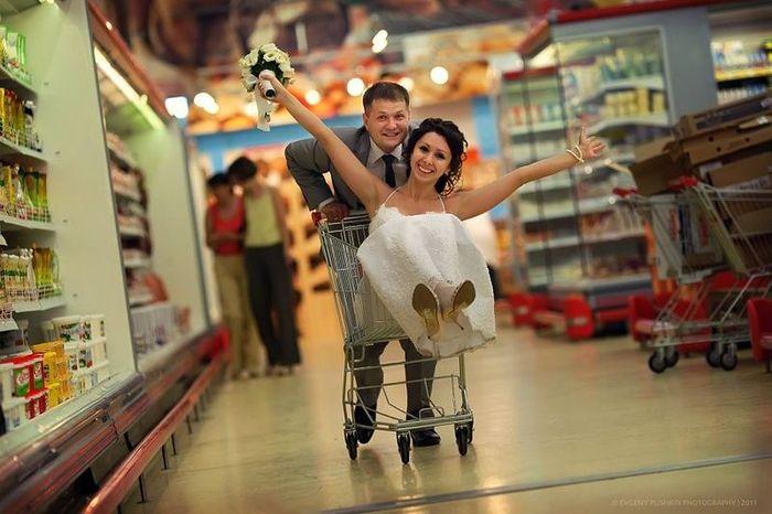 Прикольные свадебные фотографии (15 фото)