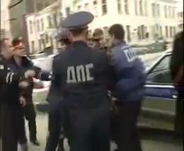 Задержание нарушителя ПДД в Грозном