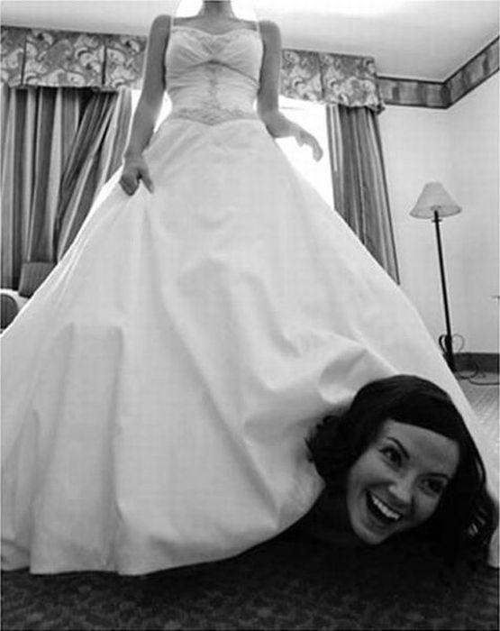 Прикольные свадебные фотографии (59 фото)