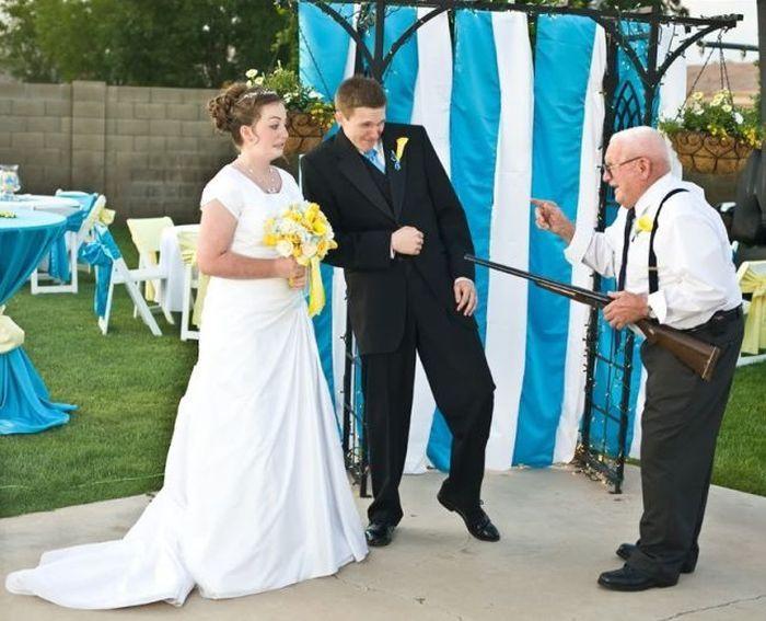 Прикольные свадебные фотографии 59