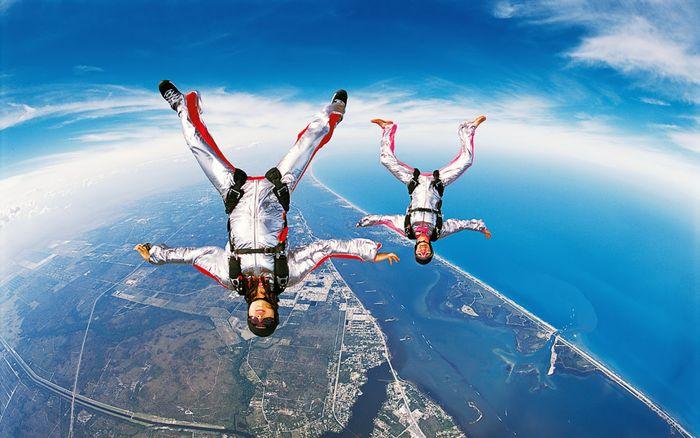 прыжок, парашют, самолет, выжили