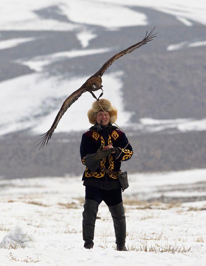 La caza con águilas en Kazajistán 4