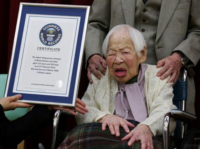 японка, старейшая, книга рекордов гиннеса