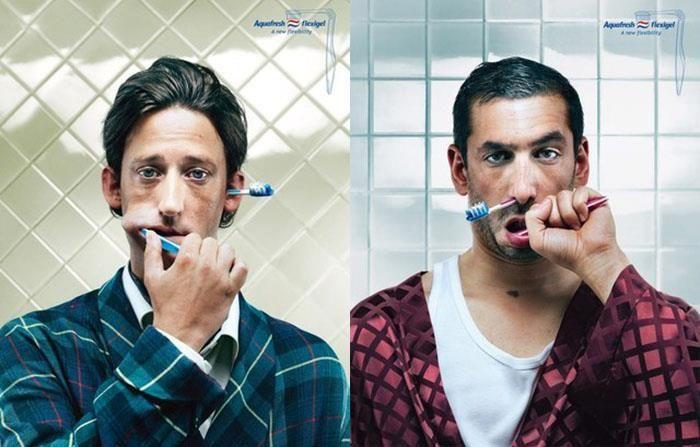 Юмор аквафреш, зубная паста, мужики, реклама
