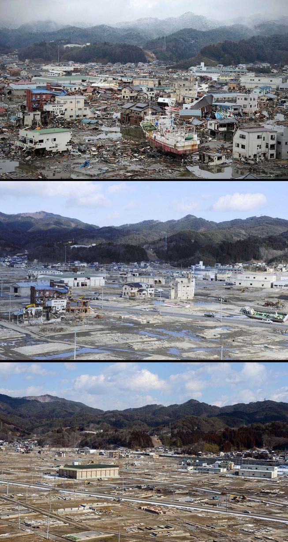 фото спустя лет цунами япония менее риск