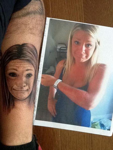 Фотография девушка, жесть, татуировка, уродливо