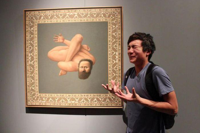 Прикольные фото азиат, выражение лица, картина, прикол