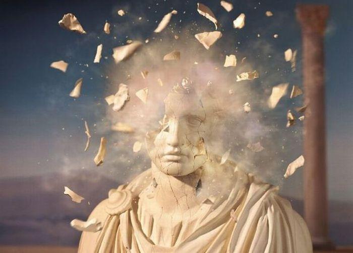 Шикарное фото взрыв, голова, мозг, скульптура