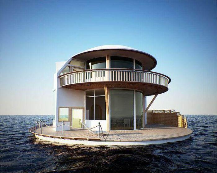 Новый фотоприкол дизайн, дом на воде, инновация, круто, яхта