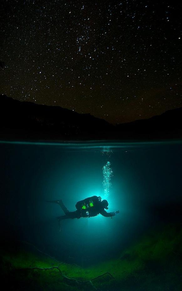 Фотоподборка аквалангист, крутая фотка, под водой