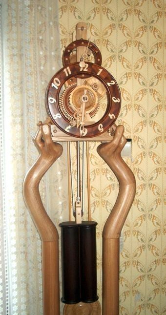 часы, дерево, своими руками
