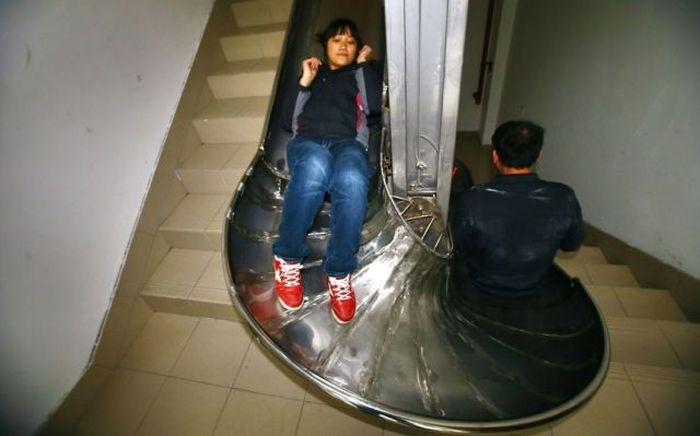 Фотоприкол фото круто, лестница, подъезд, спуск