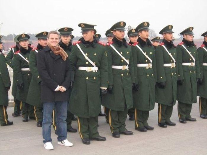 Фанни фото армия, придурок, смешная фотка, строй, фоткается