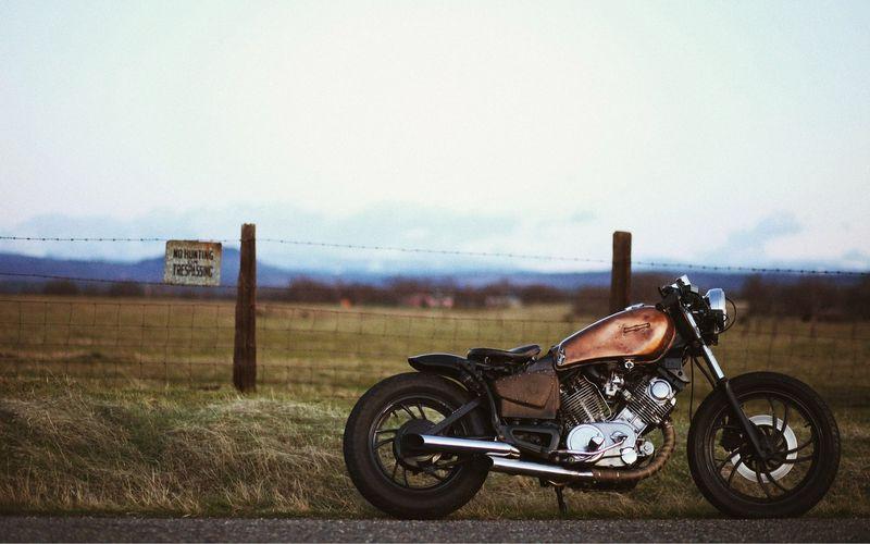 Смешные рисунки байк, крутая фотогарфия, мотоцикл, поле