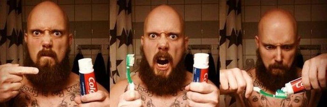 гигиена, зубная паста, борода